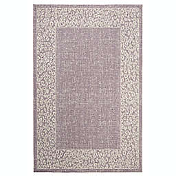 Marmalade™ Eloise 5' x 7' Area Rug with Cheetah Border in Purple/Beige