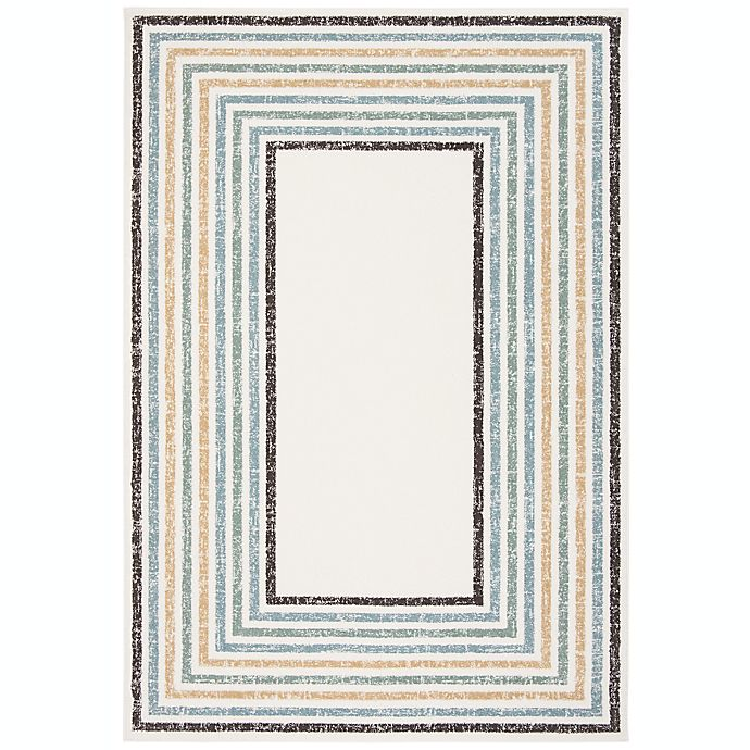 Alternate image 1 for Marmalade™ Wren 5' x 7' Hand Tufted Area Rug with Rainbow Border