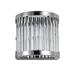 Safavieh Jase Wall Sconce in Chrome/Clear