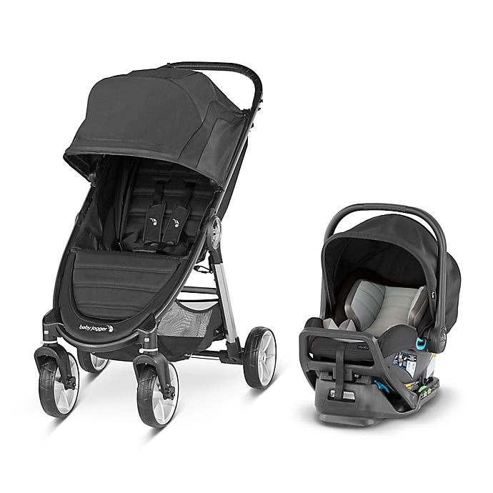 Alternate image 1 for Baby Jogger City Mini 2 4-Wheel Travel System  in Jet