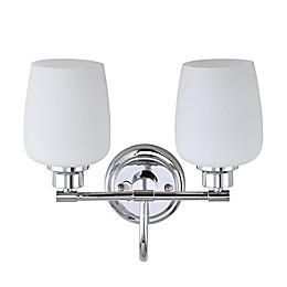 Safavieh Rayden 2-Light Bathroom Wall Sconce in Chrome