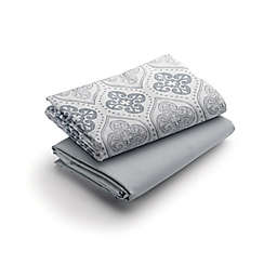 Graco® Quick Connect 2-Pack Waterproof Playard Fitted Sheets in Sterling