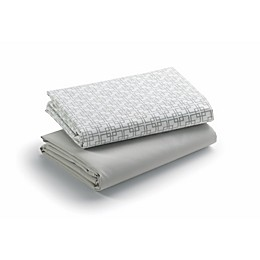 Graco® Quick Connect Playard Waterproof Fitted Sheets in Grey (2-Pack)
