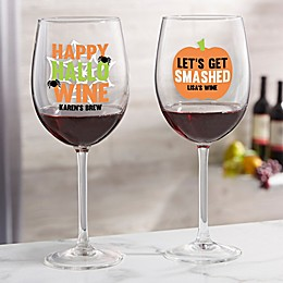 Let's Get Smashed Personalized 19.25 oz Red Wine Glass