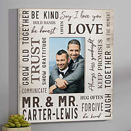 Modern & Bold Personalized Vertical Wedding Wall Frame