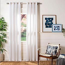 Safavieh Darlena Grommet Window Curtain Panel in Pearl