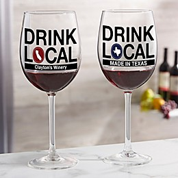 Drink Local Personalized 19.25 oz. Red Wine Glass