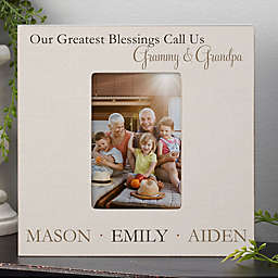 Greatest Blessings Personalized Box Picture Frame- Vertical