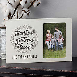 Family Blessing Personalized Whitewashed Off-Set Box Picture Frame
