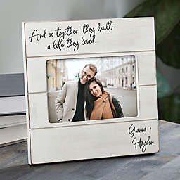 Personalized Together They Built A Life Shiplap Picture Frame
