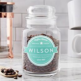 Coffee House Personalized Glass Storage Jar