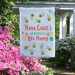 Bee Happy Personalized Garden Flag
