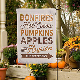 Fall Traditions Personalized Garden Flag