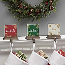 Glistening Snowflake Personalized Stocking Holder