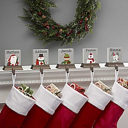 Wintry Cheer Santa Personalized Stocking Holder