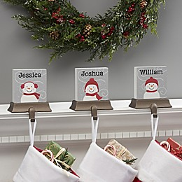 Snowman Family Character Personalized Stocking Holder