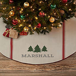 Woodsy Winterland Personalized Christmas Tree Skirt