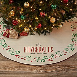 Christmas Wreath Personalized Christmas Tree Skirt