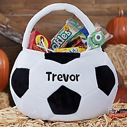 Soccer Ball Embroidered Halloween Treat Bag