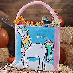 Unicorn Embroidered Halloween Treat Bag