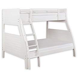 Powell Presidio Twin/Full Bunk Bed in White