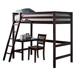 Hillsdale Furniture Caspian Twin Bed Study Loft with Chair