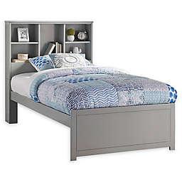 Hillsdale Caspian Twin Bookcase Bed in Grey
