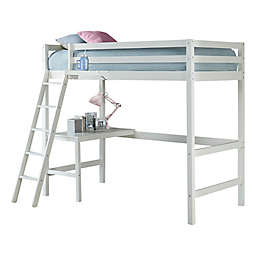 Hillsdale Furniture Caspian Twin Loft Bed with Hanging Nightstand