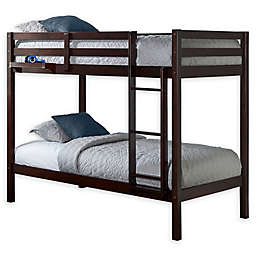 Hillsdale Caspian Twin Bunk Bed with Hanging Nightstand in Chocolate