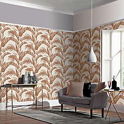 Arthouse Banana Palm Non-Woven Wallpaper in Coffee