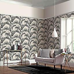 Arthouse Banana Palm Non-Woven Wallpaper in Charcoal