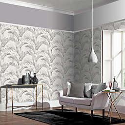 Arthouse Banana Palm Non-Woven Wallpaper in Grey