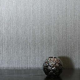 Arthouse Gianni Plain Foil Vinyl Wallpaper in Silver