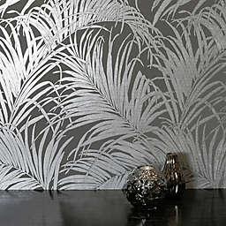 Arthouse Palm Leaf Kiss Foil Non-Woven Wallpaper