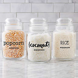Kitchen Text Personalized Glass Storage Jar