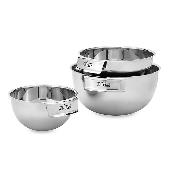 Alternate image 1 for All-Clad 3-Piece Stainless Steel Mixing Bowl Set