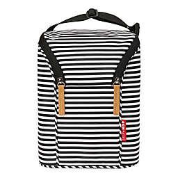 SKIP*HOP® Grab & Go Double Bottle Bag in Black/White