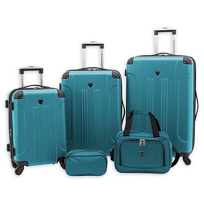 Alternate image 1 for Traveler's Club® Chicago Plus 5-Piece Hardside Spinner Luggage Set