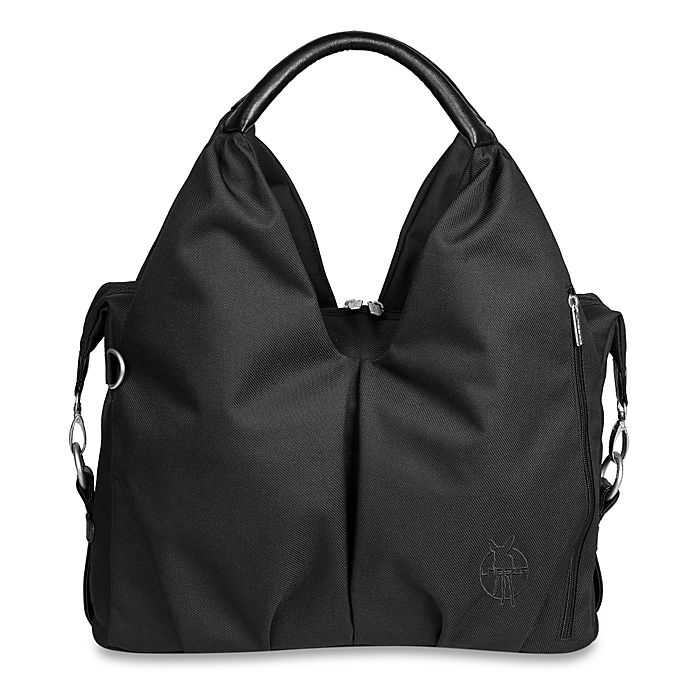 Alternate image 1 for Lassig Green Label Neckline Diaper Bag in Black