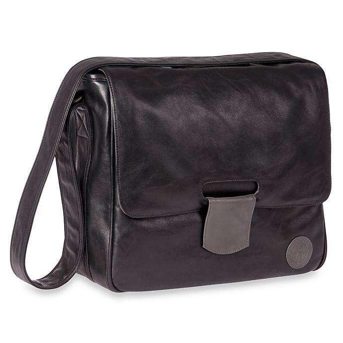 Alternate image 1 for Lassig Tender Messenger Diaper Bag in Black
