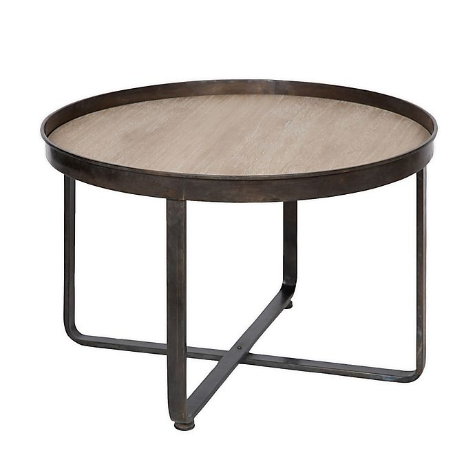 Zabel 28 Inch Round Coffee Table In, 28 Round Table