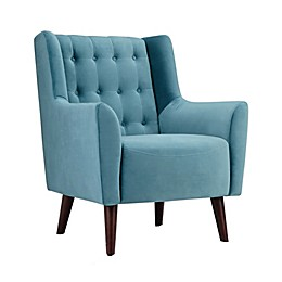 Simpli Home™ Bennett Accent Chair in Ocean Blue