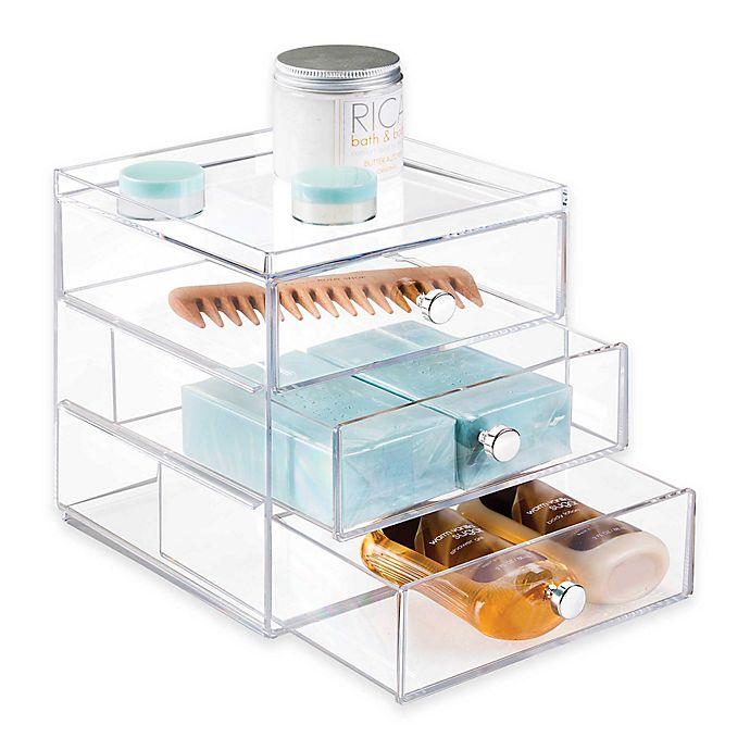 Alternate image 1 for iDesign® Luci 3-Drawer Vanity Organizer