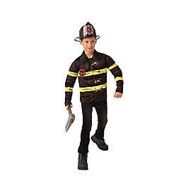 Fireman Child's Halloween Costume in Black