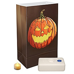 Flameless 12-Count Jack-O-Lantern Luminaria Kit