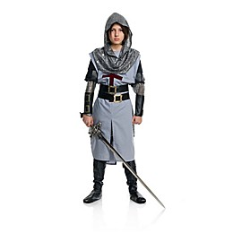 Chivalrous Knight Child's Halloween Costume in Grey