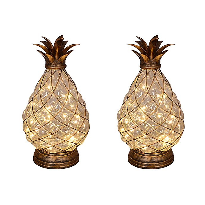 Alternate image 1 for Pineapple Decorative Lights (Set of 2)