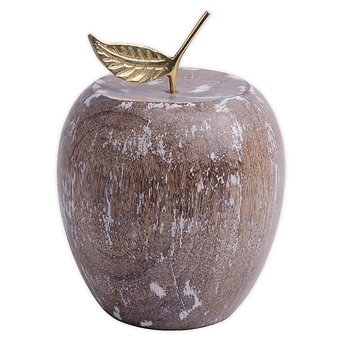 Alternate image 1 for Bee & Willow™ Home Decorative Wood Apple in Whitewash