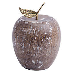 Bee & Willow™ Home Decorative Wood Apple in Whitewash