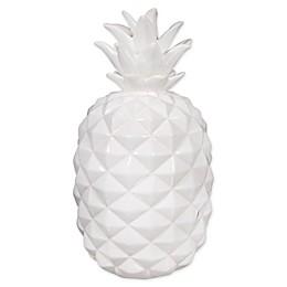 One Kings Lane™ Ceramic Pineapple Figurine in White